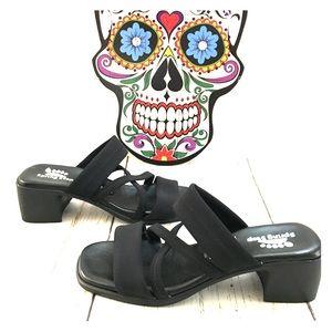 Spring Step Black Sandals Size 8